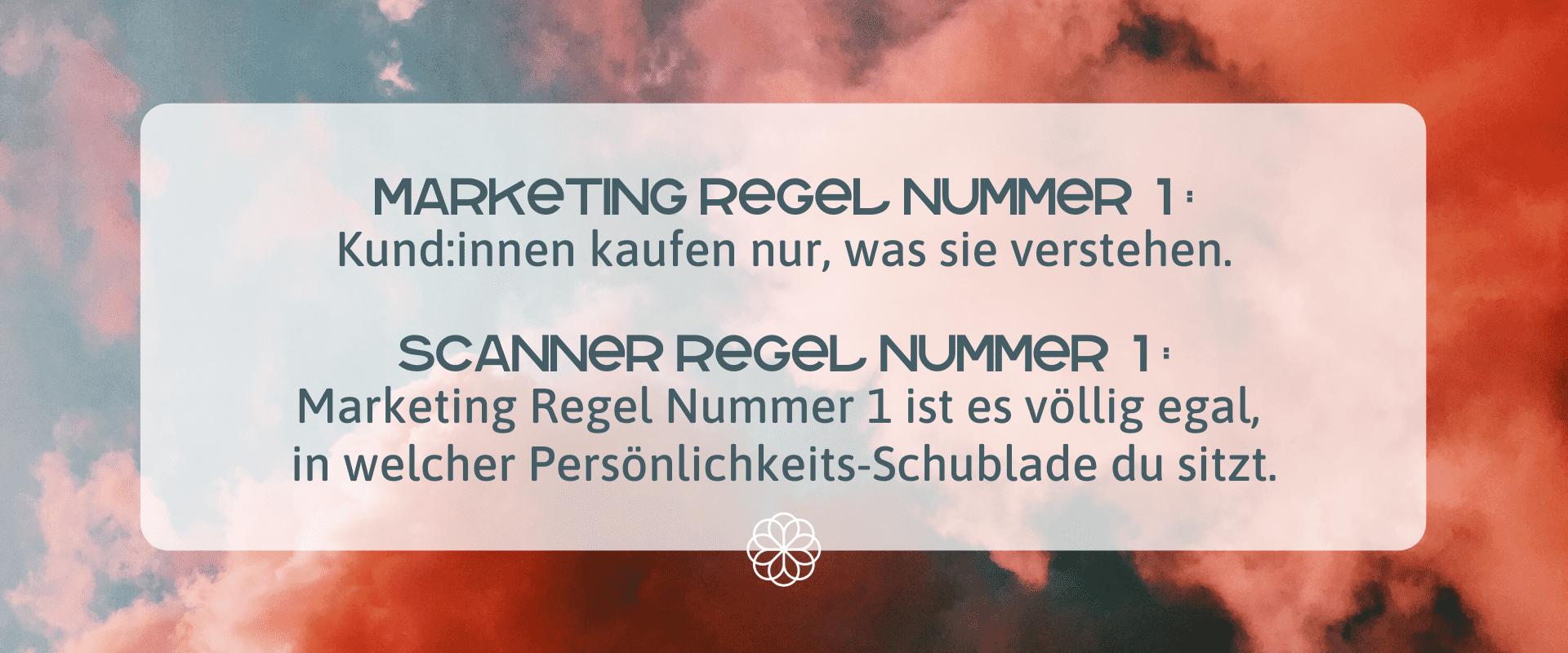 Marketing Regel für Scanner